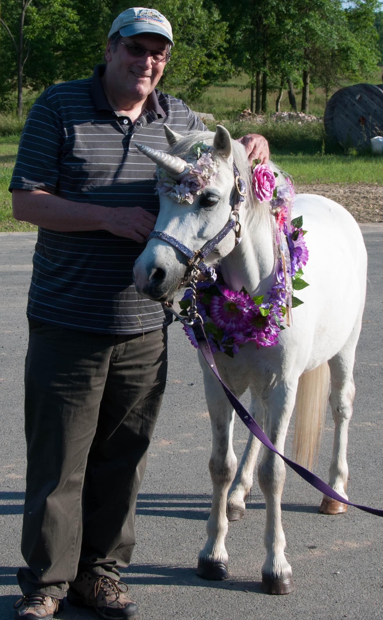 David and a unicorn June 10, 2017