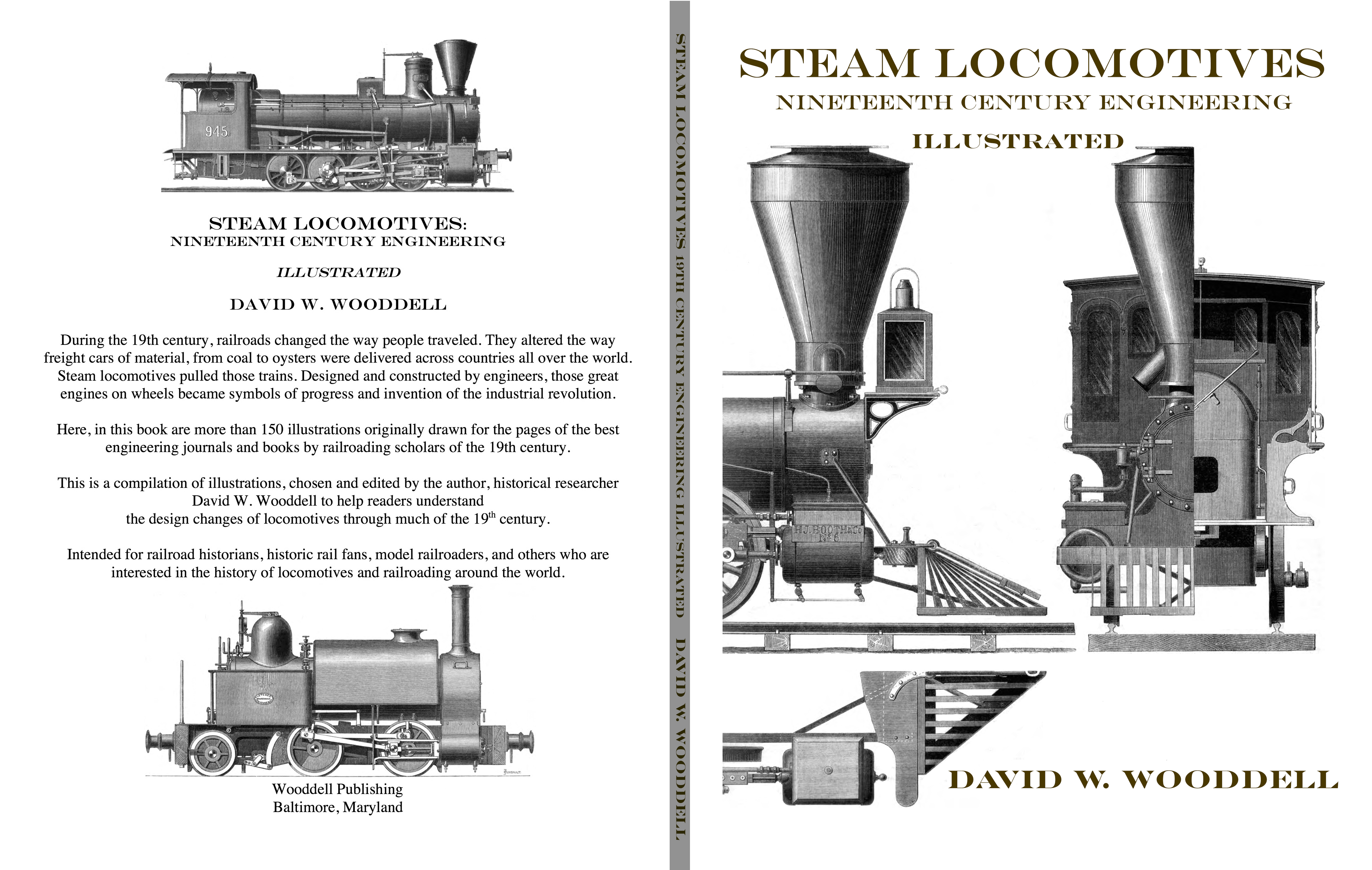 Steam Locomotives Cover front and back