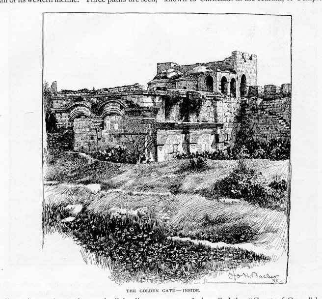 Jerusalem, Inside the Golden Gate, Century, May 1889 vol 38, No 1
