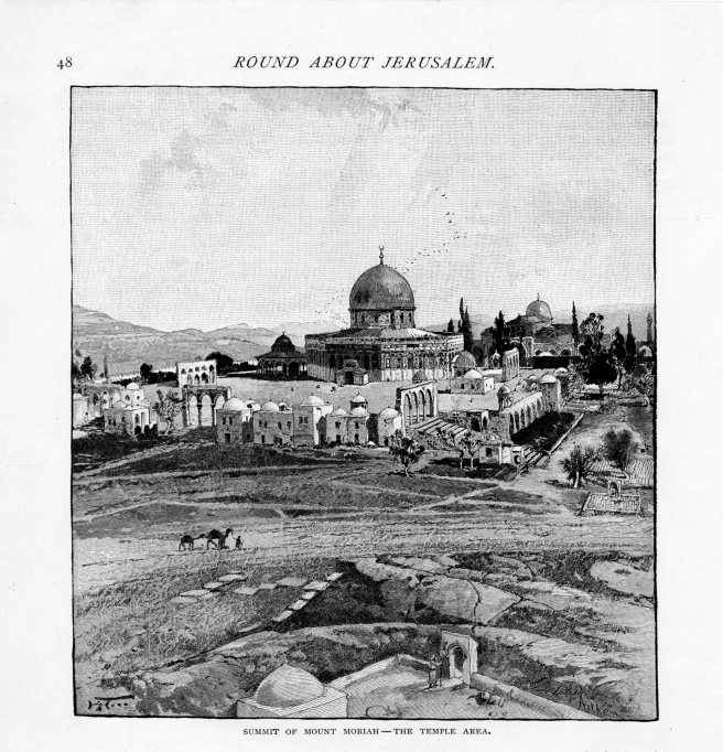 Jerusalem, Summit of Mount Moriah, The Temple Area, Century, May 1889 vol 38, No 1