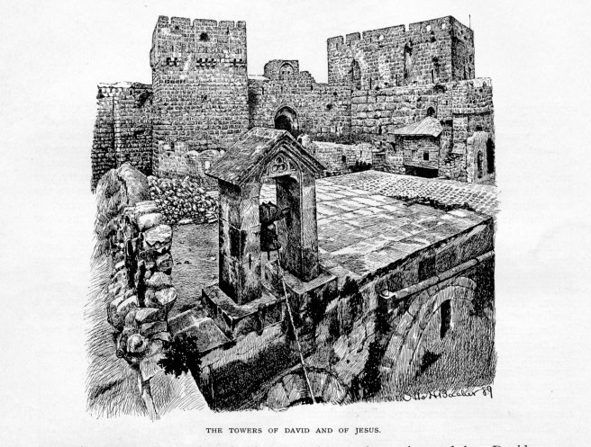 Jerusalem, The Towers of David and of Jesus, Century, October 1889 vol 38, No 6