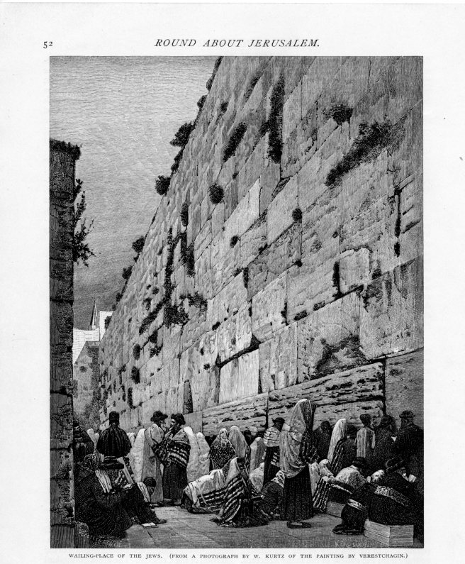 Jerusalem, Wailing Place of the Jews, Century, May 1889 vol 38, No 1